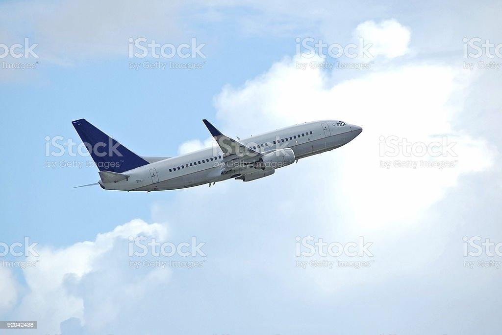 Boeing 737-800 passenger jet stock photo