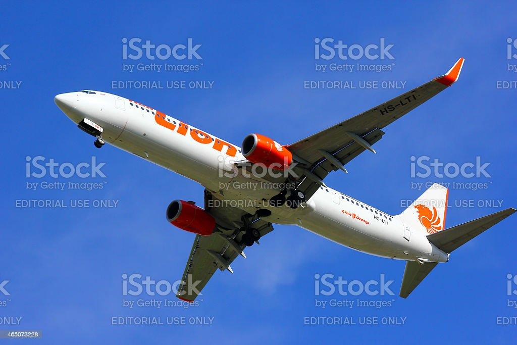 HS-LTI Boeing 737-900ER of Thai lion air airline stock photo