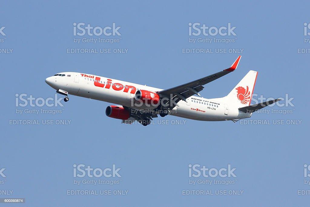 HS-LTH Boeing 737-900ER of Thai lionair airline stock photo