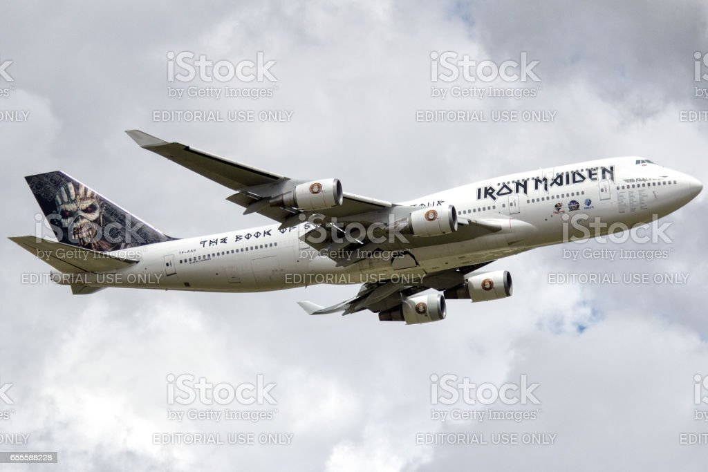 Boeing 747 400 Of A Rock Band Iron Maiden At Guarulhos International ...