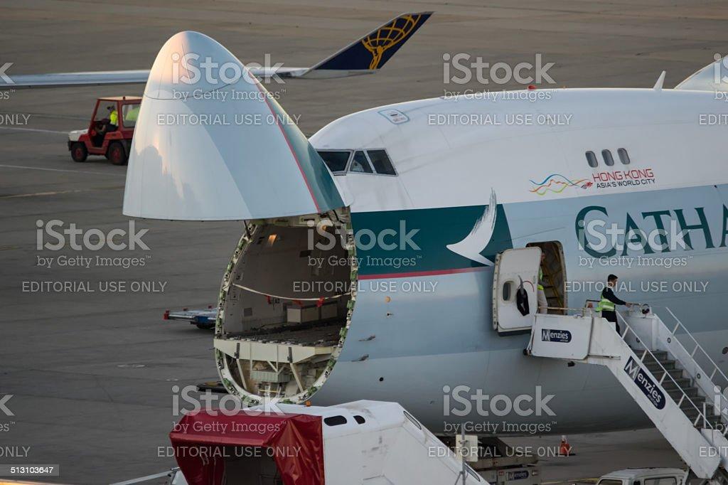 Boeing 747 -8 stock photo