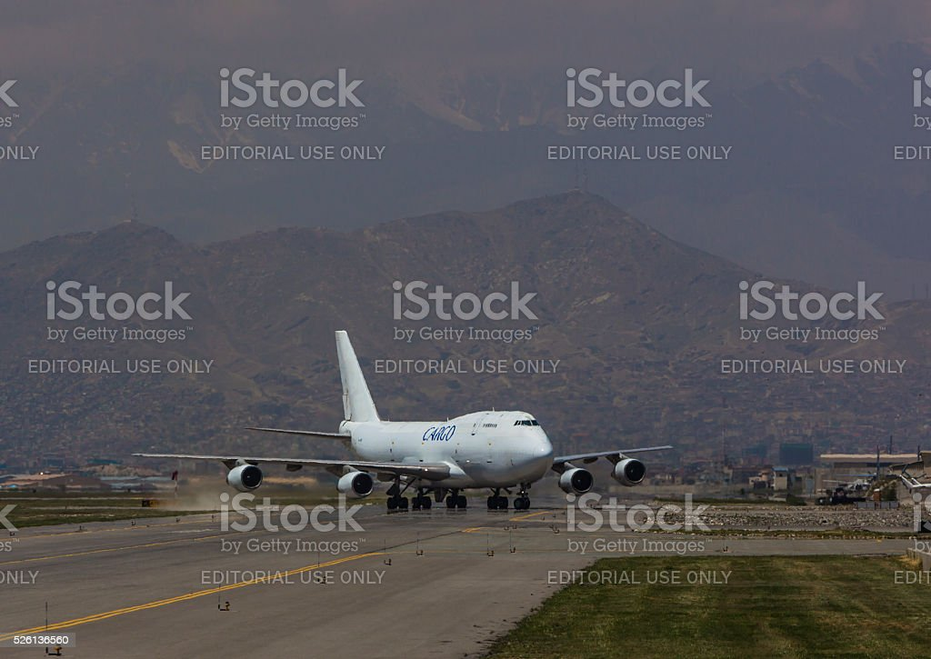 Boeing 747 Cargo Jumbojet stock photo