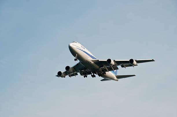 ANA Boeing 747 stock photo