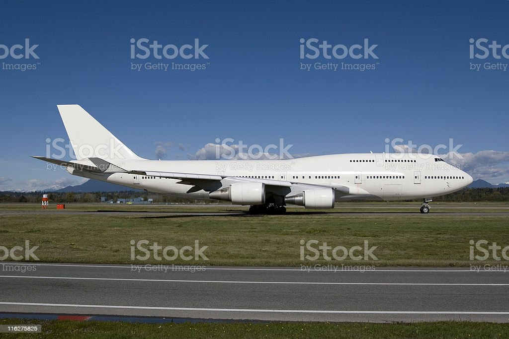 Boeing 747 Taxiing royalty-free stock photo