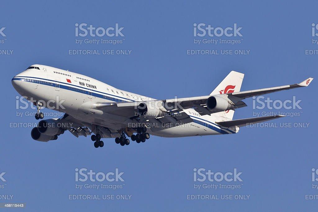 Boeing 747-400 Air China stock photo