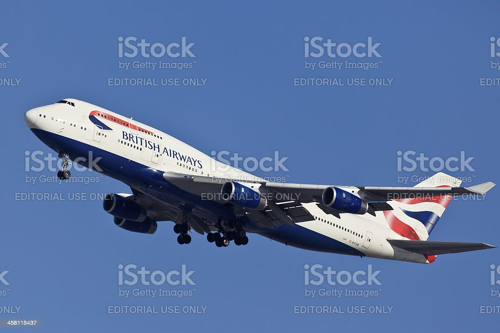 Boeing 747-400 British Airlines stock photo