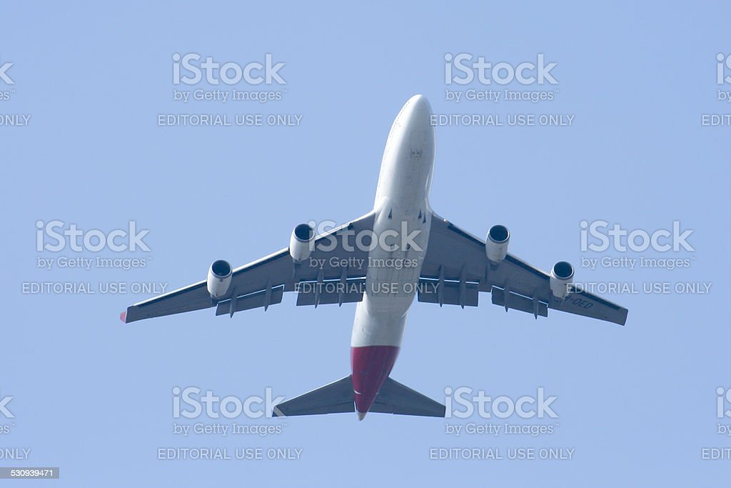 VH-OED Boeing 747-400 of Qantas Airway stock photo