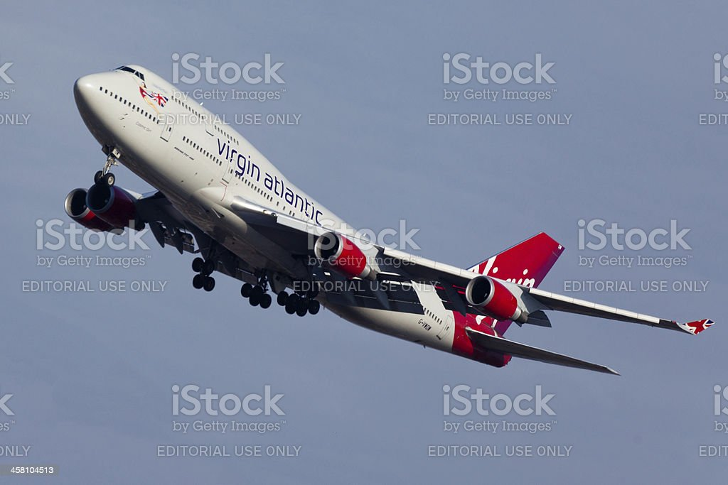 Boeing 747-400 Virgin Atlantic stock photo