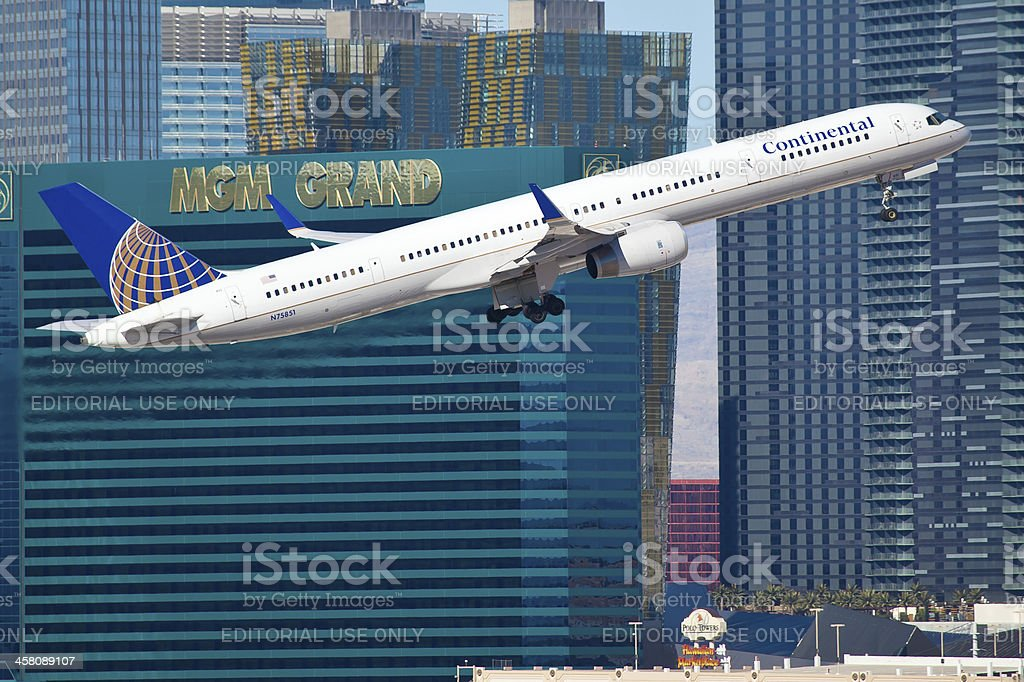 Boeing 757 of United - Continental Airline stock photo