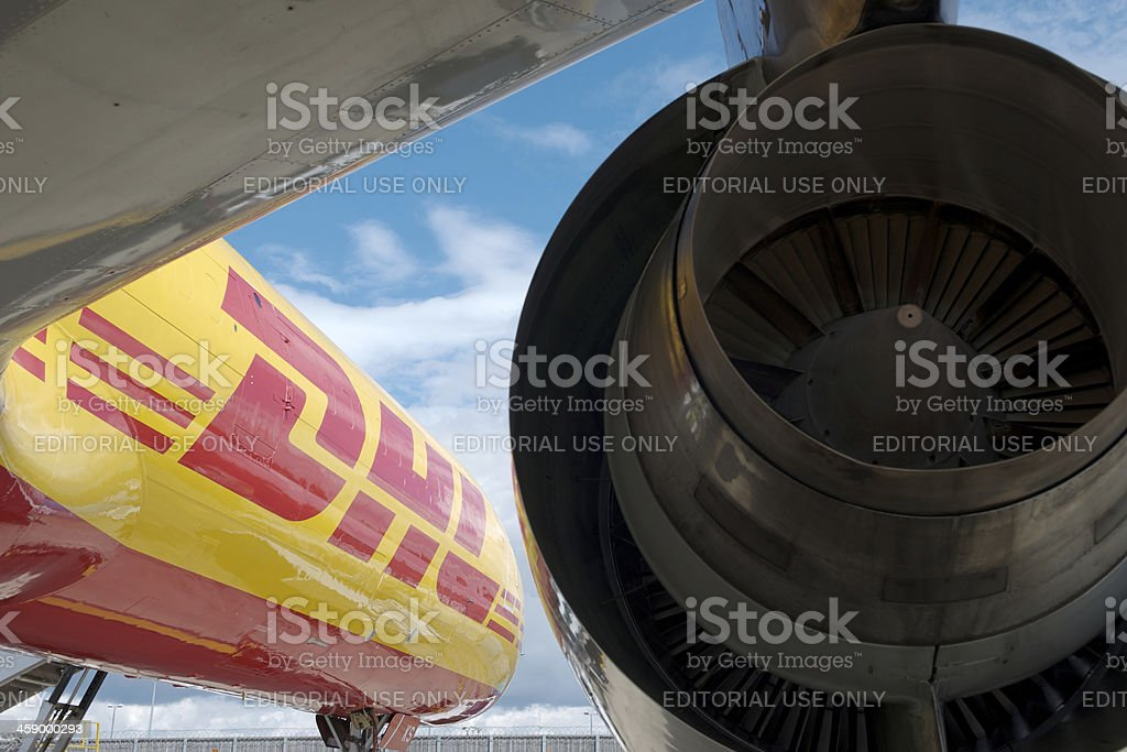 DHL Boeing 757 stock photo