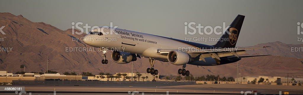 Boeing 757-200PF UPS stock photo