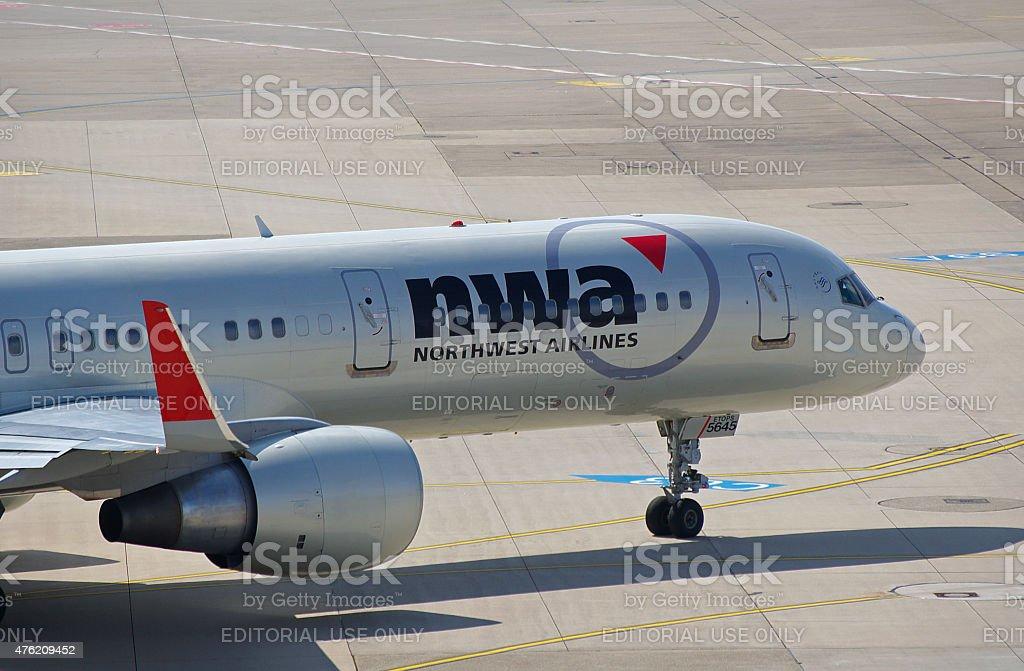 Boeing 757-251 Northwest Airlines stock photo