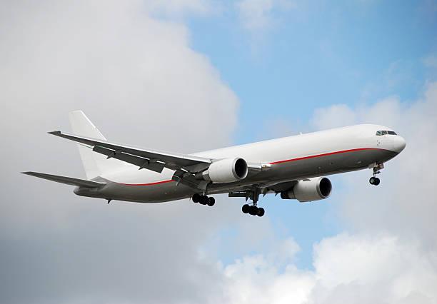 Boeing 767 cargo jet stock photo