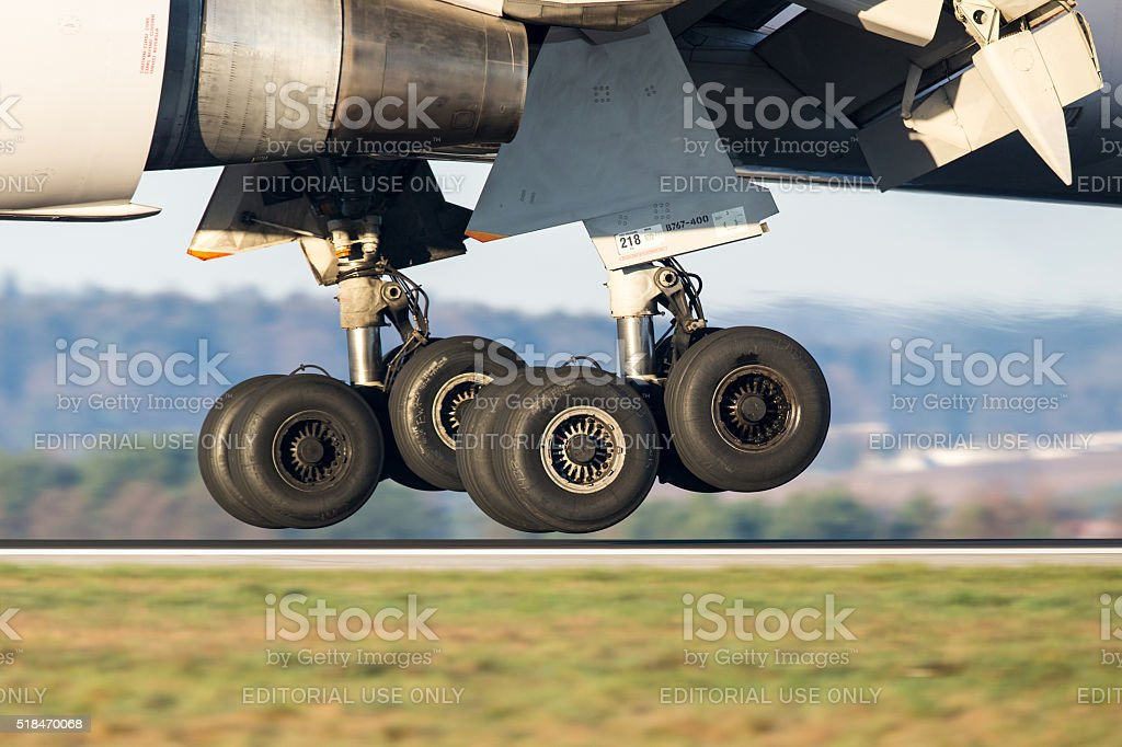 Boeing 767 Main Landing Gear stock photo
