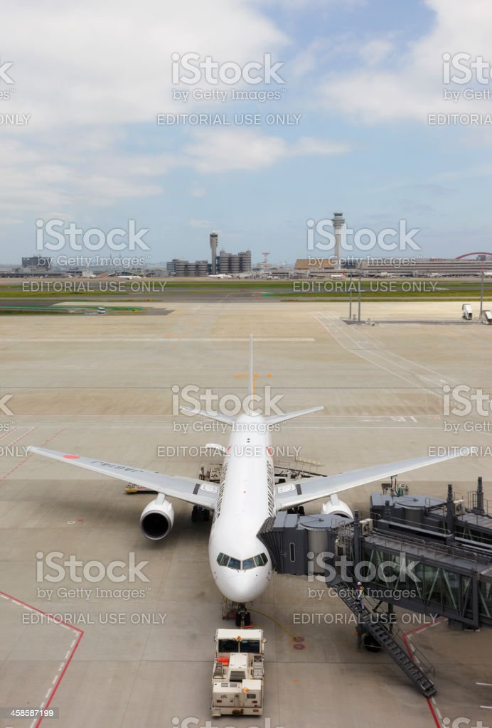 JAL Boeing 767 royalty-free stock photo