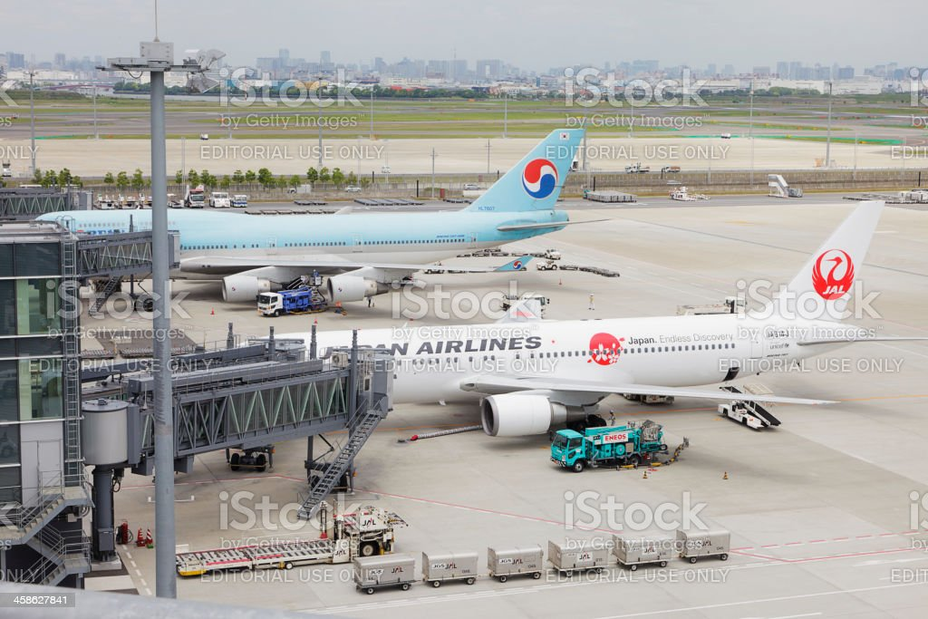 JAL Boeing 767 stock photo
