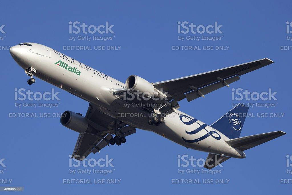 Boeing 767-300 Alitalia con SkyTeam schema pittura - foto stock