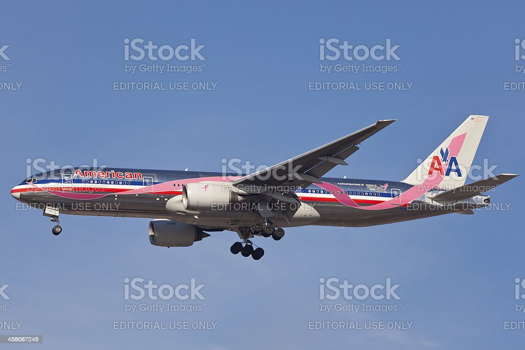 Boeing 767-300 American Airlines royalty-free stock photo