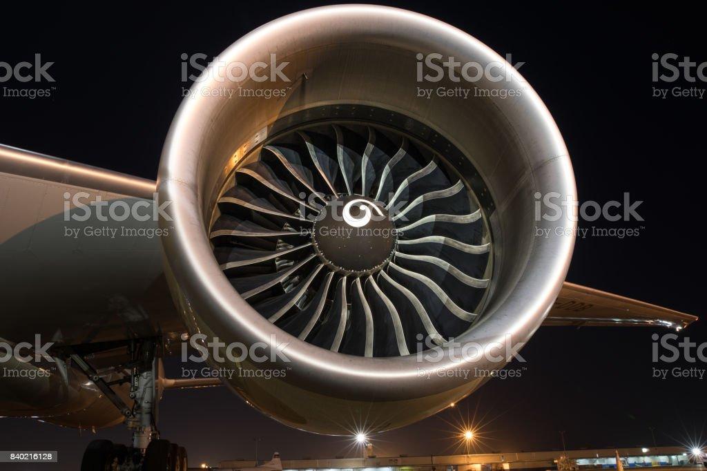 Boeing 777 GE90-115B Engine Intake stock photo