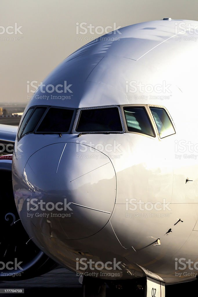 Boeing 777 stock photo