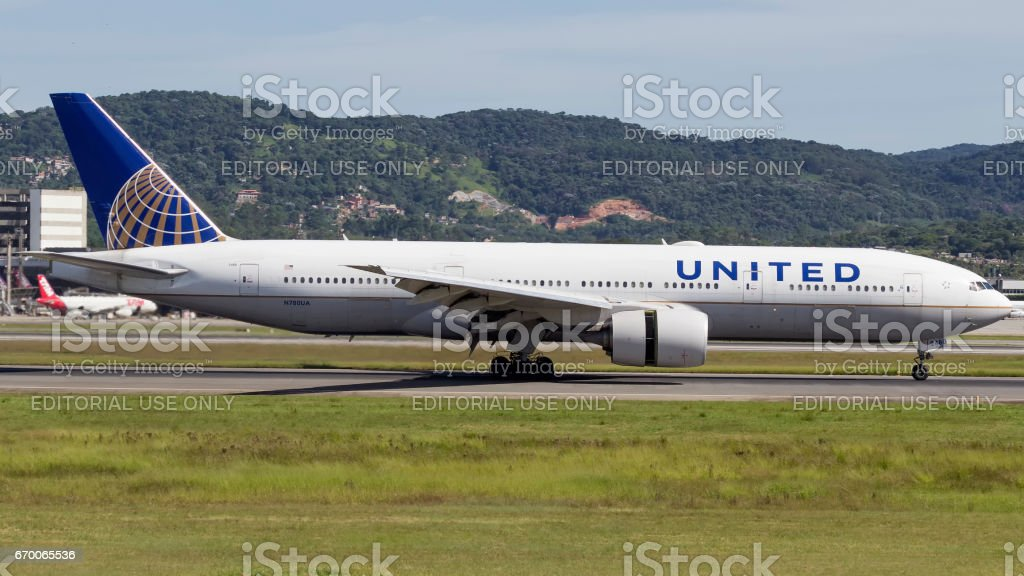 Boeing 777200 Of United Airlines At Guarulhos International Airport