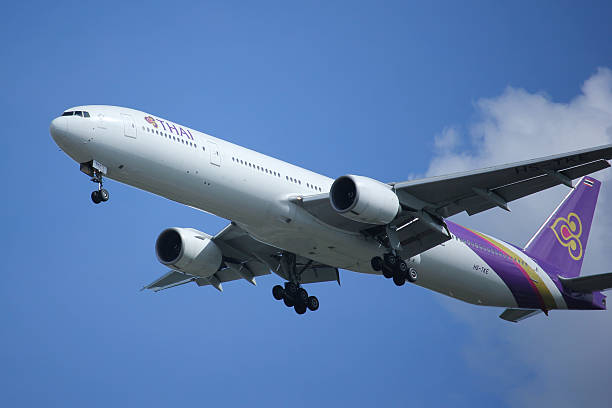 boeing 777-300 hs-tke of thaiairway - respiratory tract stock photos and pictures