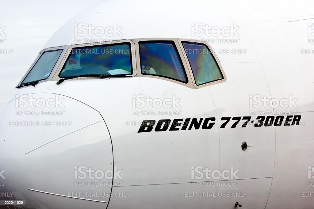 boeing 777-300 stock photo