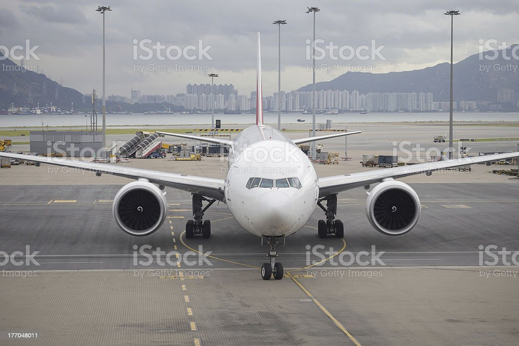 Boeing 777-300ER Airplane stock photo