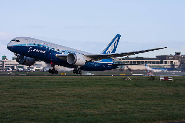 Boeing 787 Dreamliner at Dublin Airport stock photo