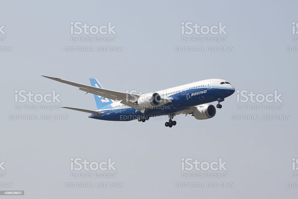 Boeing 787 Dreamliner royalty-free stock photo