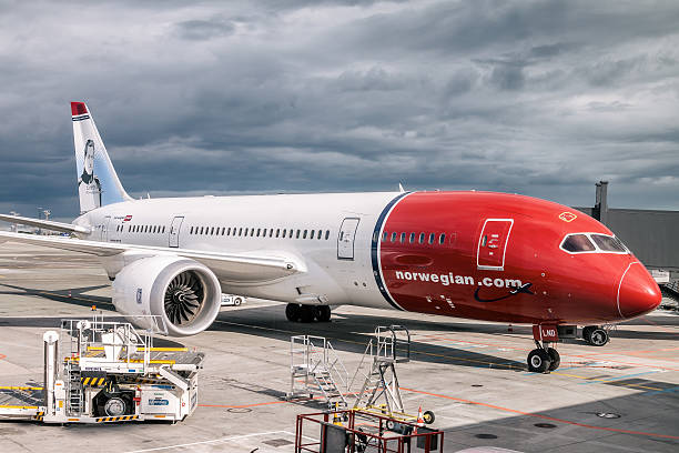 Boeing 787 - Norwegian Air Shuttle stock photo