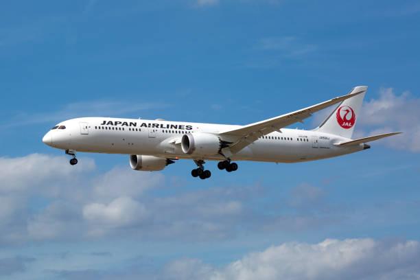Boeing 787 von JAL, Japan Airlines nähert sich Dem Flughafen Frankfurt – Foto