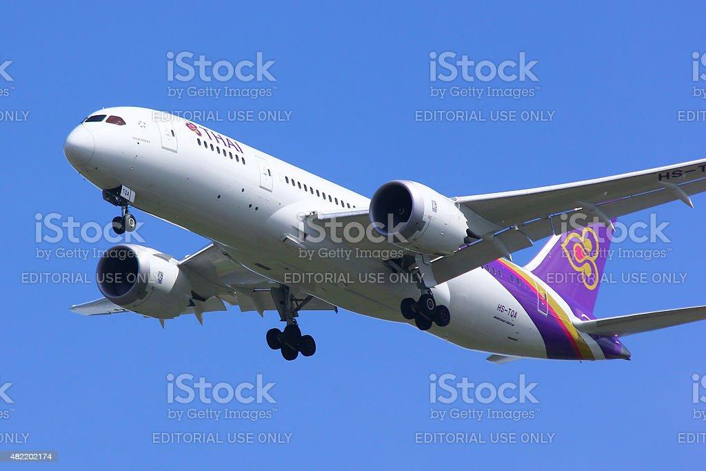 Boeing 787-800 Dreamliner HS-TQA stock photo