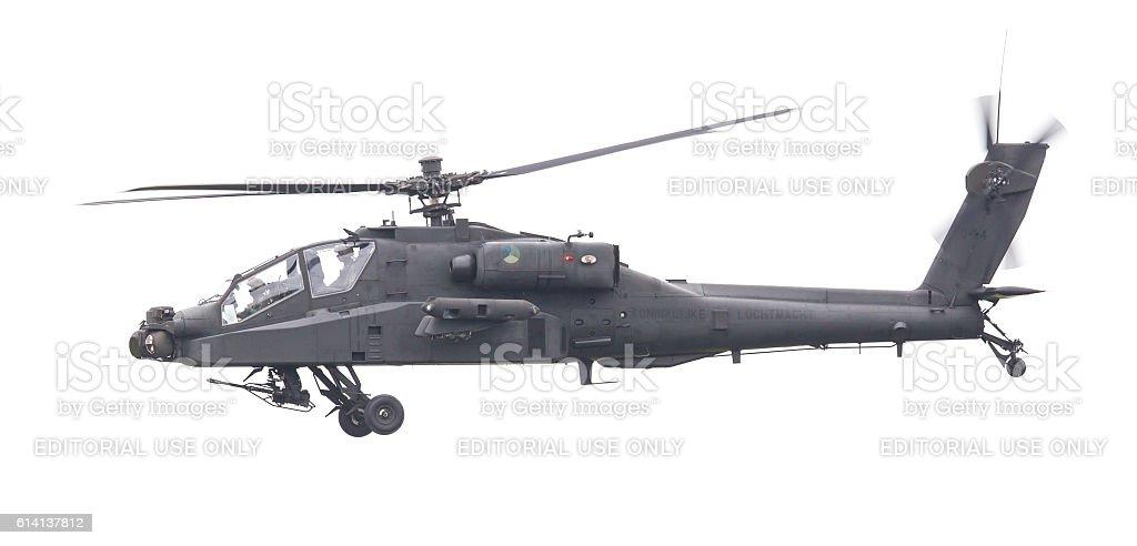Boeing AH-64 Apache attack helicopter stock photo