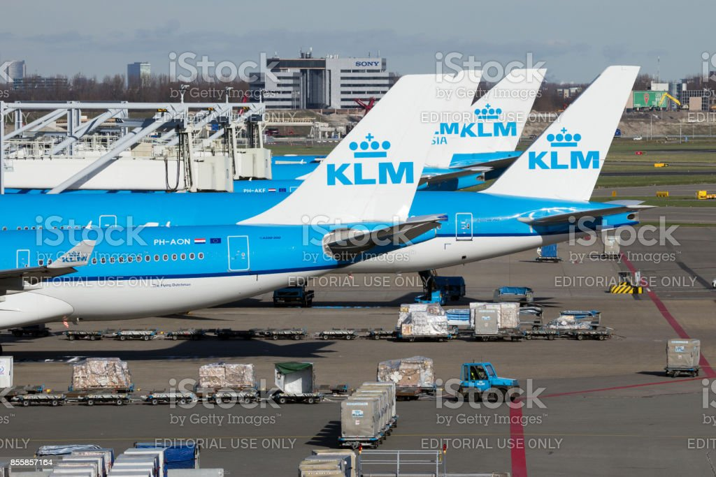 KLM Boeing aircraft stock photo