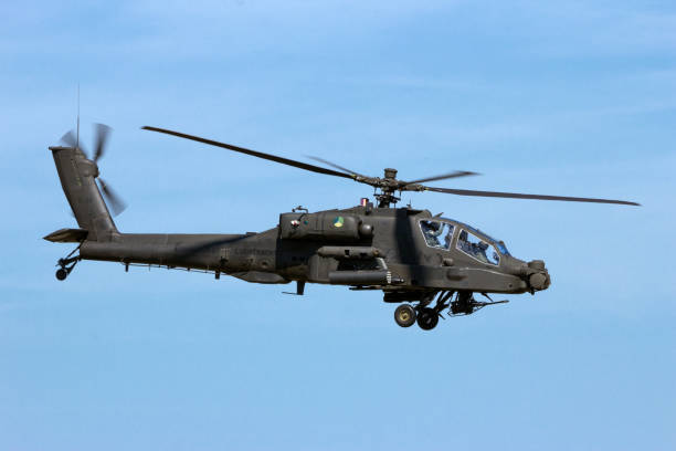 Boeing Apache attack helicopter stock photo