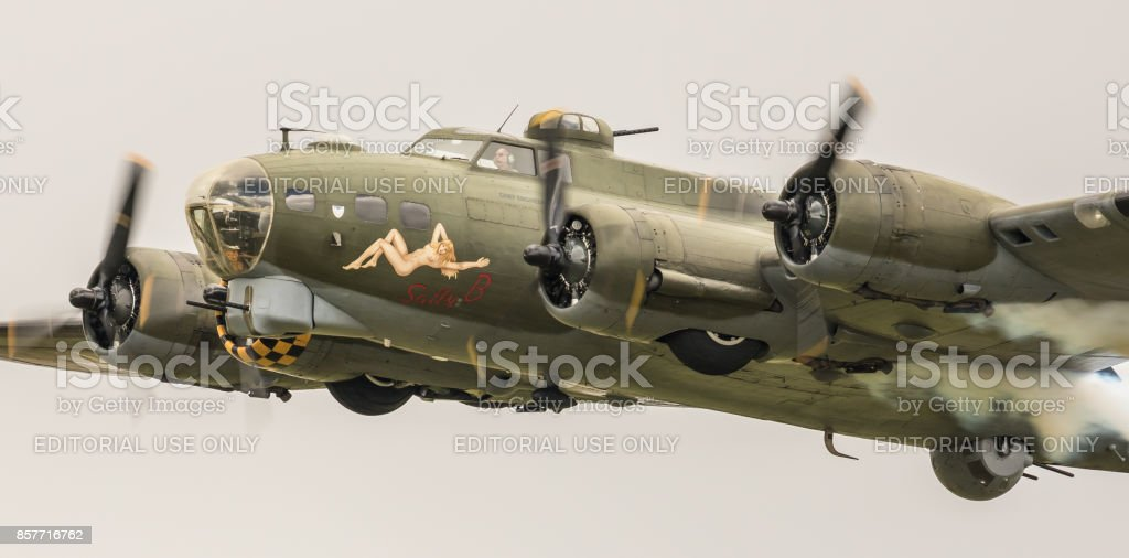 Boeing B-17G Flying Fortress WWII bomber aircraft - foto stock