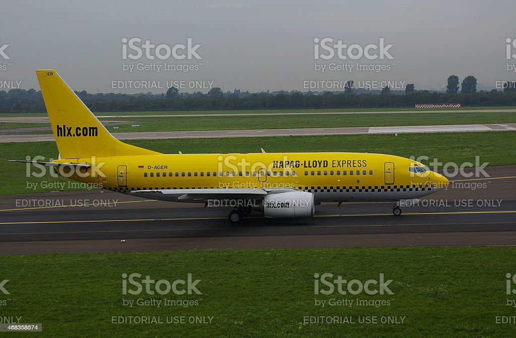 Boeing B737-75B Hapag-Lloyd Express (HLX) royalty-free stock photo