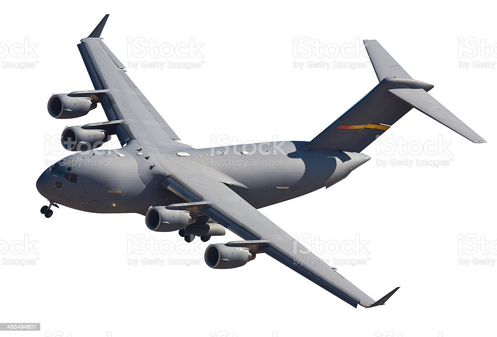 Boeing C-17 Globemaster Military Airplane With Clipping Path stock photo