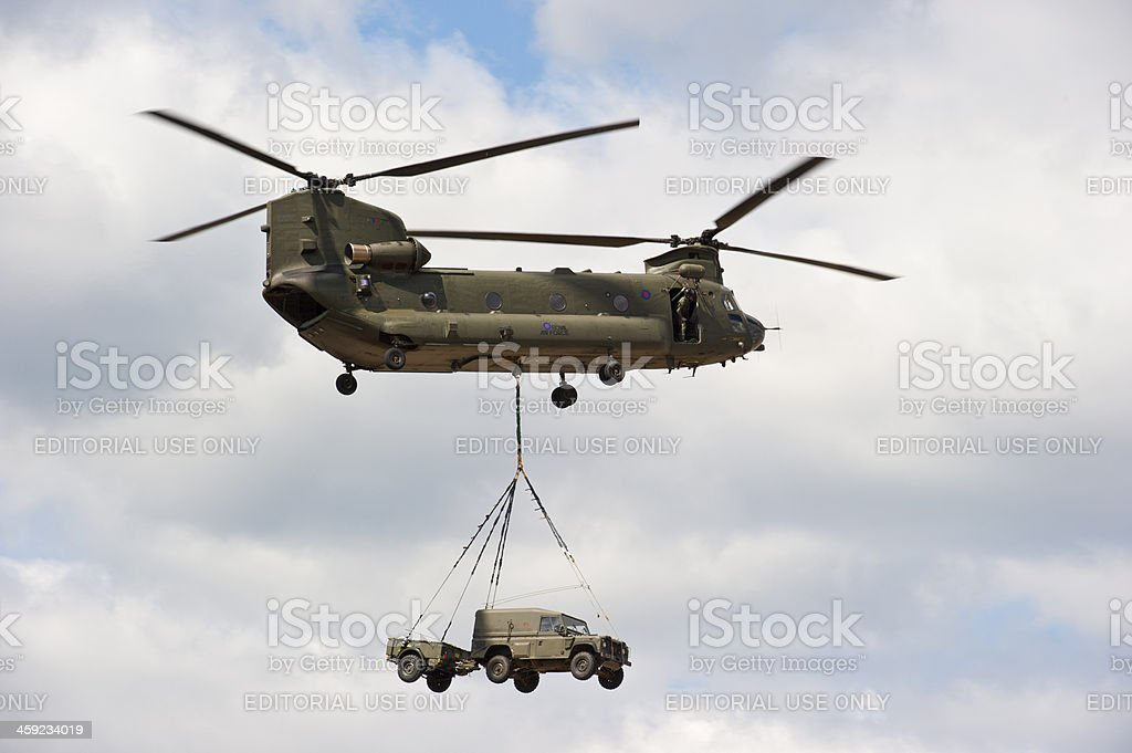 Boeing CH-47 Chinook Helicopter stock photo