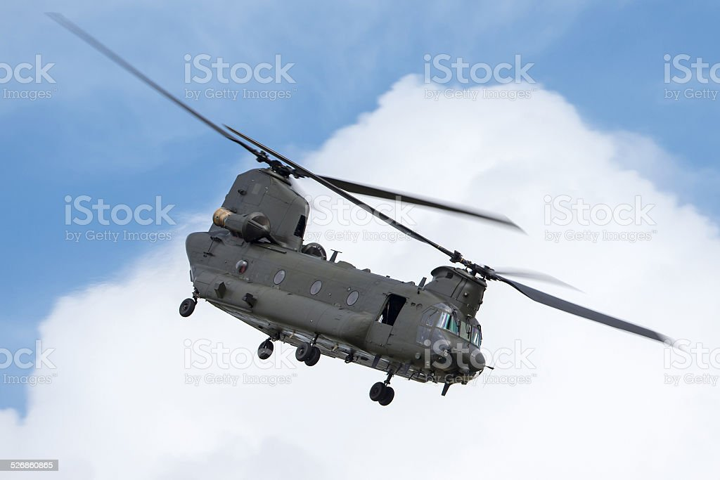 Boeing Chinook Military Helicopter stock photo