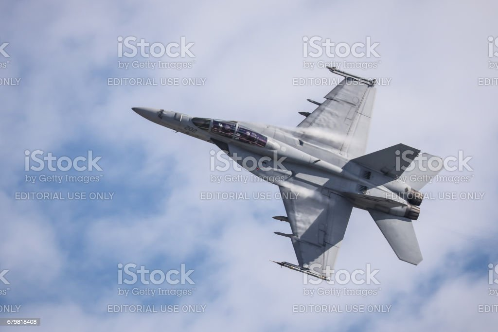 RAAF A44 Boeing FA-18F Super Hornet stock photo
