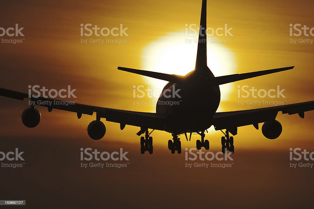 Boeing in the sun stock photo