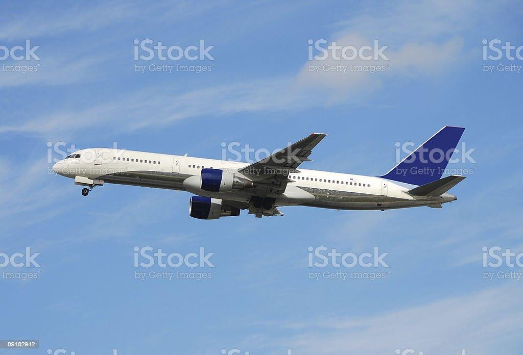 Boeing passenger jet stock photo