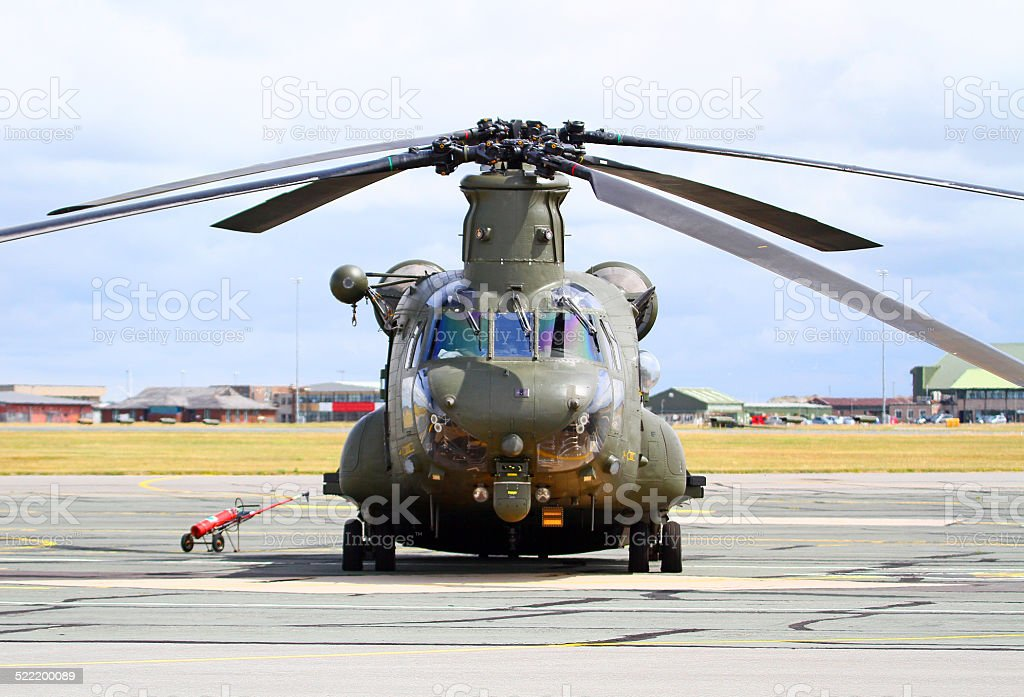Boeing Vertol Chinook HC.4 of the Royal Air Force stock photo