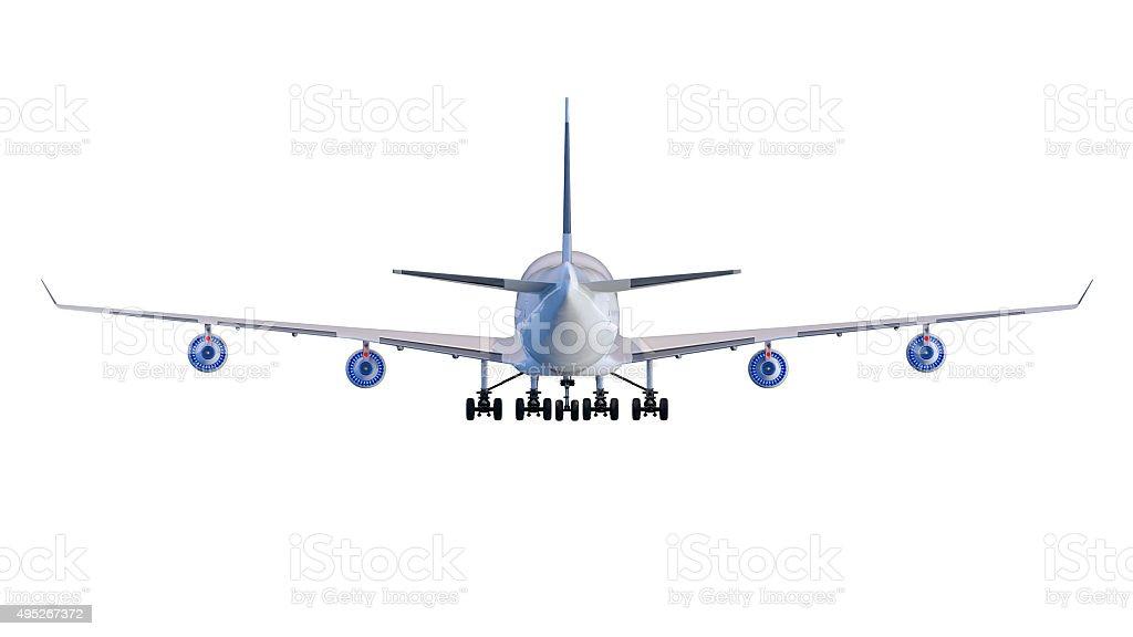 Boeing-747. Plane transport stock photo