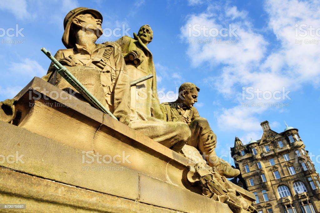 Boer War Memorial, North Bridge, Edinburgh stock photo