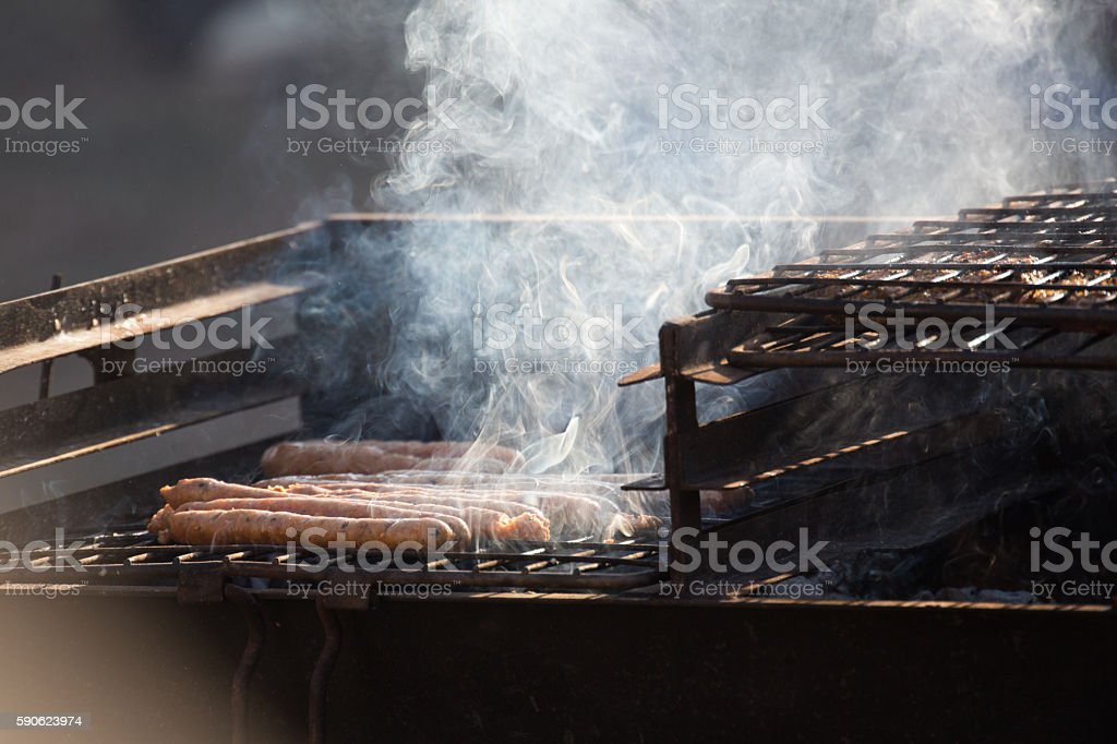 Boerewors Barbecue stock photo