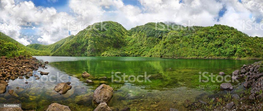 Boeri Lake, Dominica stock photo