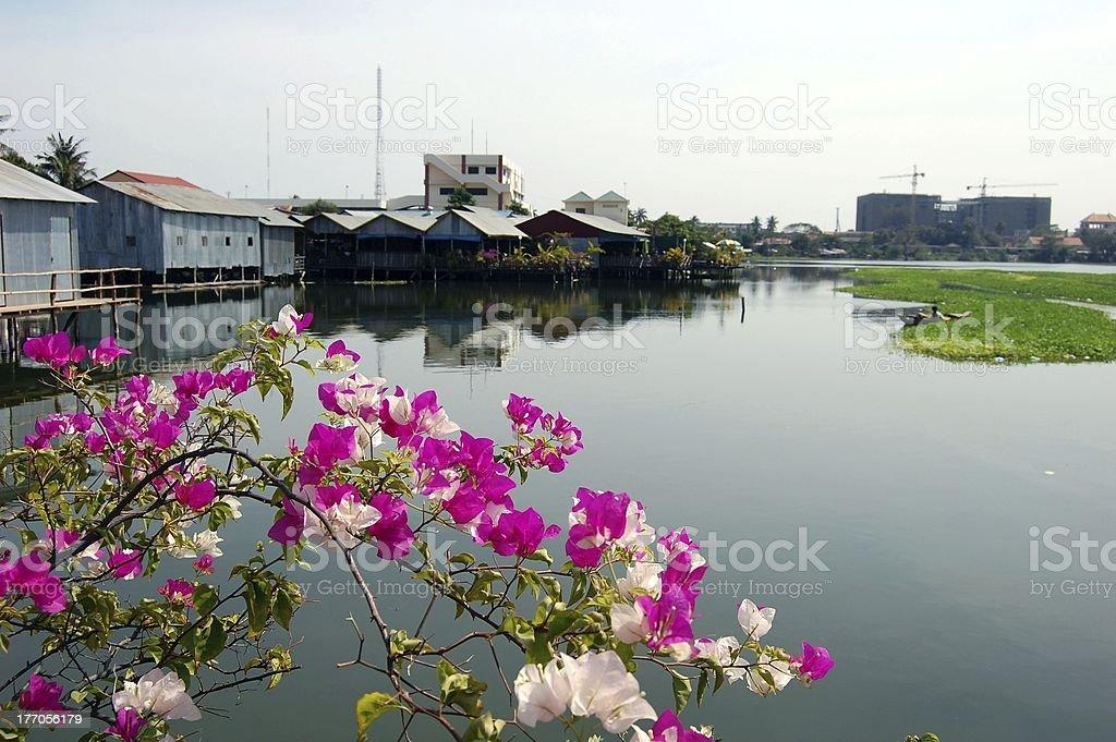 Boeung Kak lake, Phnom Penh, Cambodia stock photo